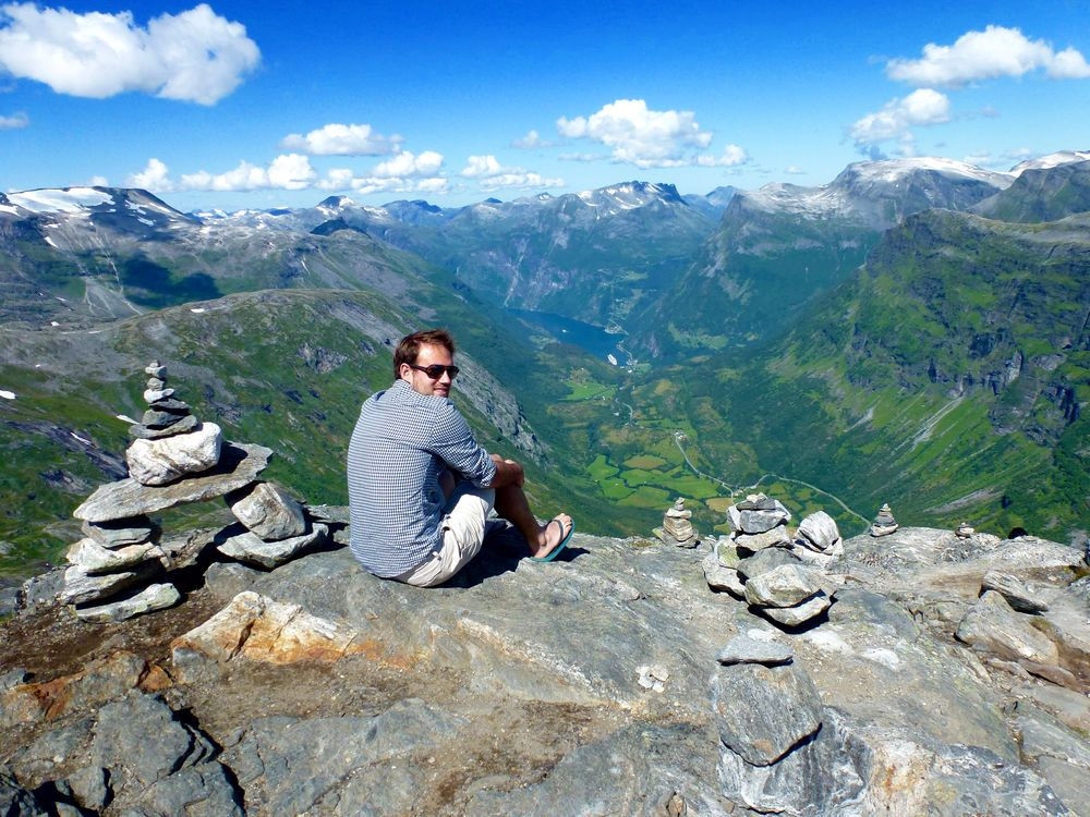 The view from Nibbevegen, 1,500 metres about Geirangerfjord