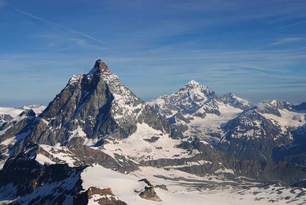 View from 'Matterhorn Glacier Paradise' lookout of the Matterhorn
