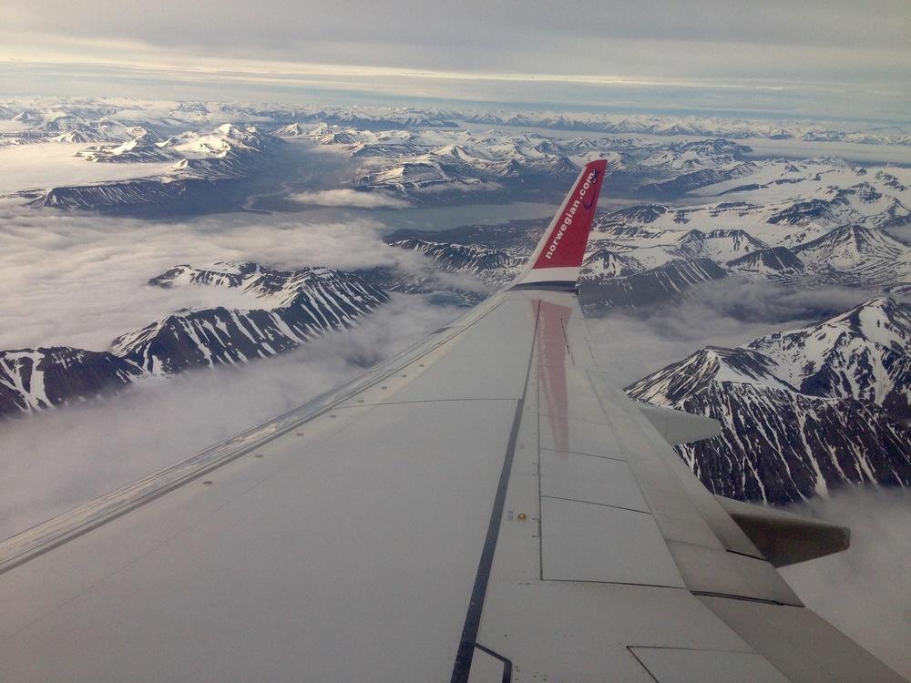 Flying Over Svalbard