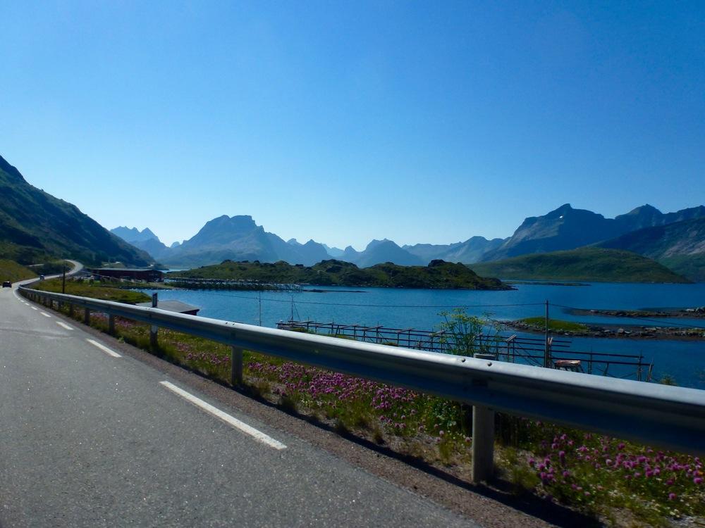 Driving in the Lofoten Islands