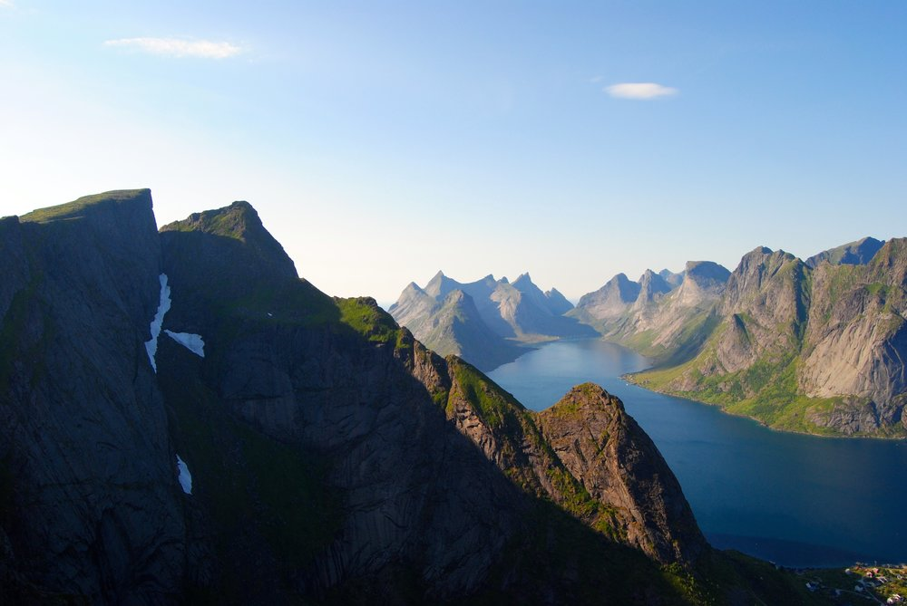 Hiking in Lofoten, stunning views around every corner