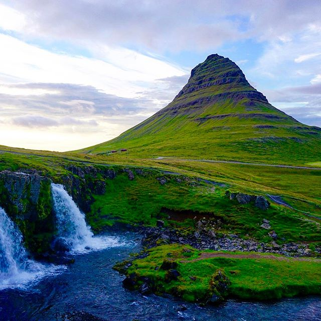 #kirkjufell The most photographed mountain (hill?) in Iceland. 😍😍😍😍West Iceland had some of the best things to do and didn't have the crowds that surround the Golden Circle.
