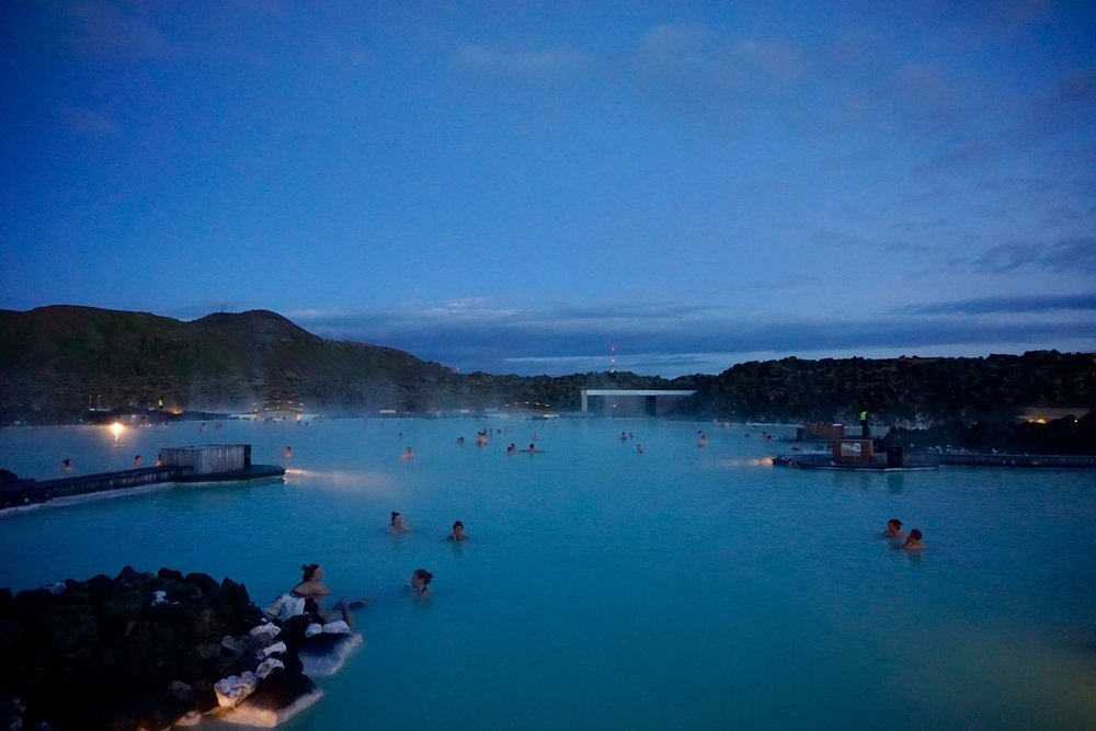 The Blue Lagoon at 11pm at night in summer - Day 10 of 10 Days in Iceland