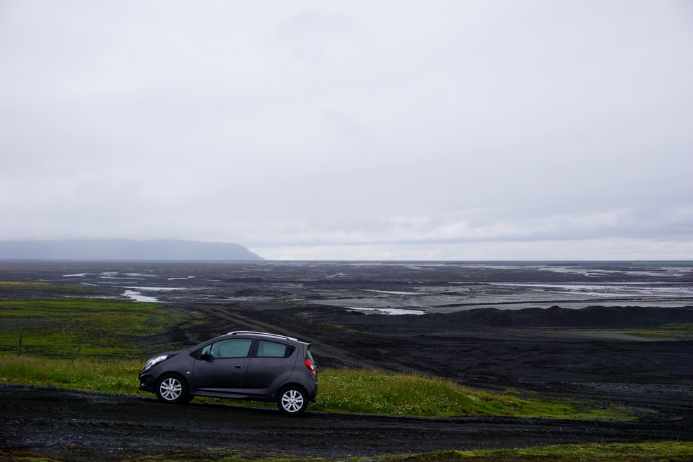 Our cute little car that took us around Iceland courtecy of SIXT