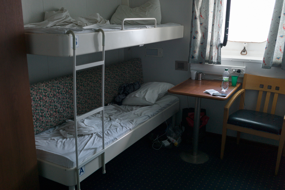 Two bed cabin at the ferry from Ilyichevsk to Batumi, June 17