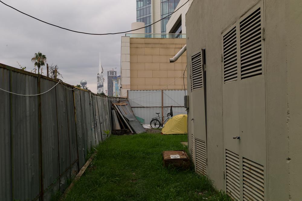 In the backyard of the Hilton Batumi, June 19