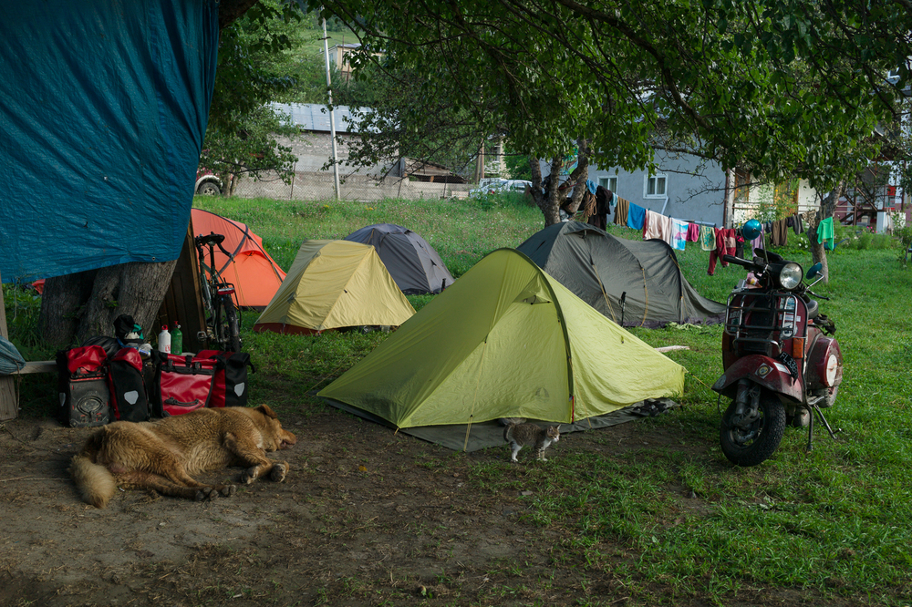 Campsite in Mesia, August 1 - 3
