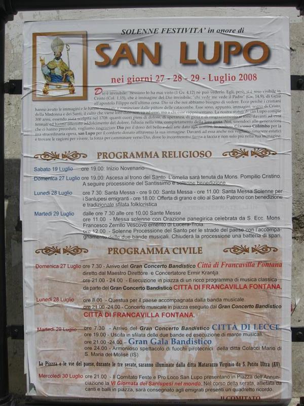 San Lupo - Poster
