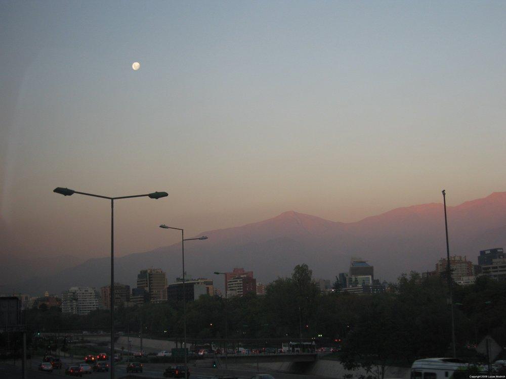 Chile - Dusk in Santiago