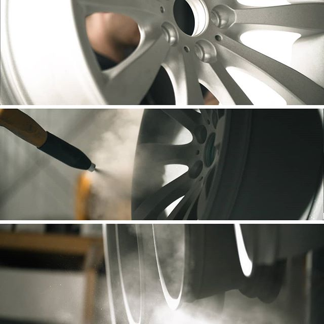 Get your rims refurbished. The right way. | Dust, powder & haze... love 'em 😃 #filmmaking #commercial #corporatefilm #brandedcontent #cinematographer #dop  #powdercoating #powdercoated #pulverbeschichtung