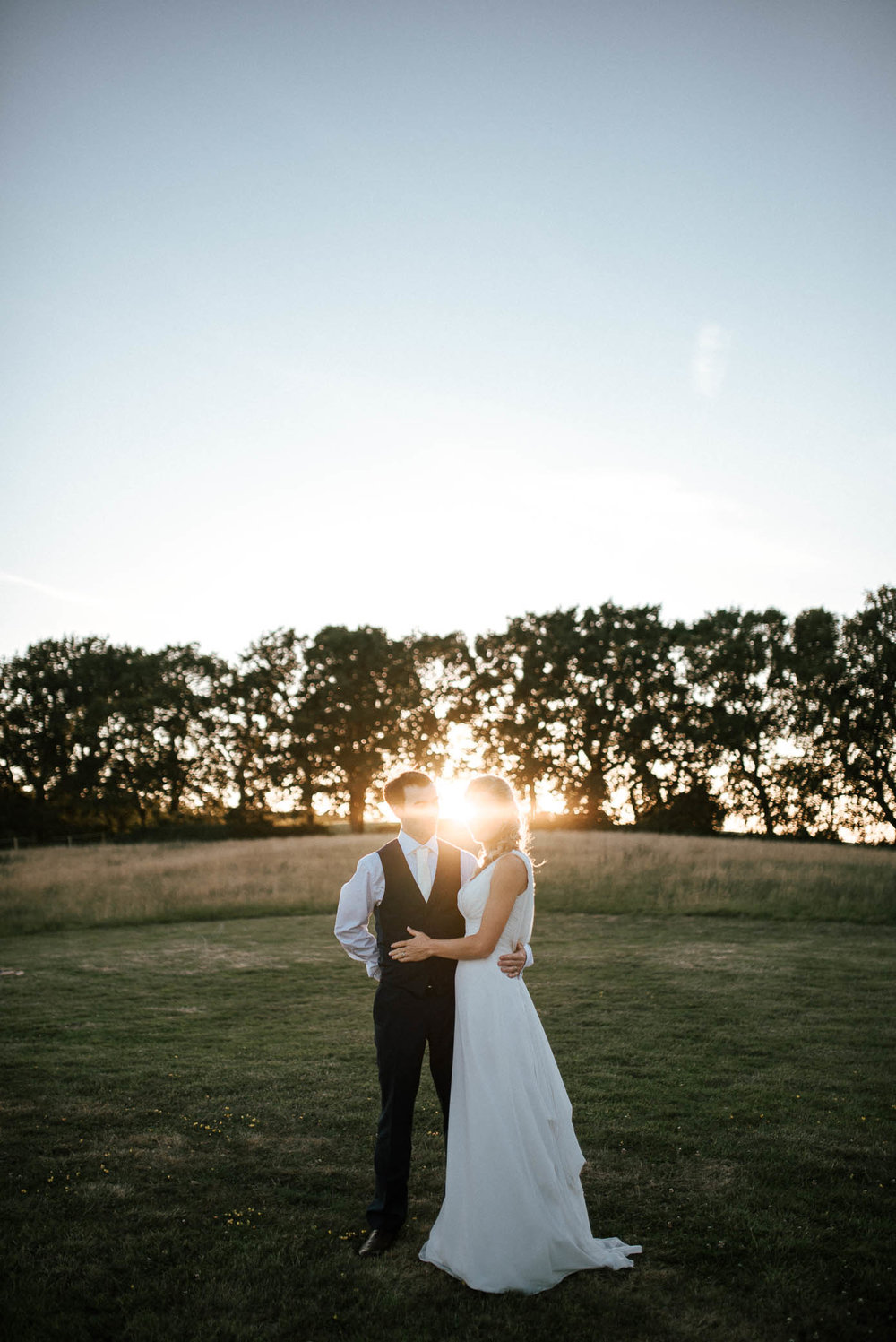 wedding sunset portrait