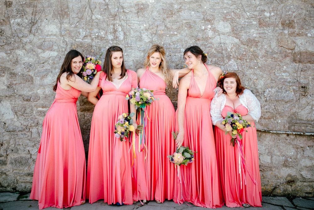 bridesmaids 2 birds dresses