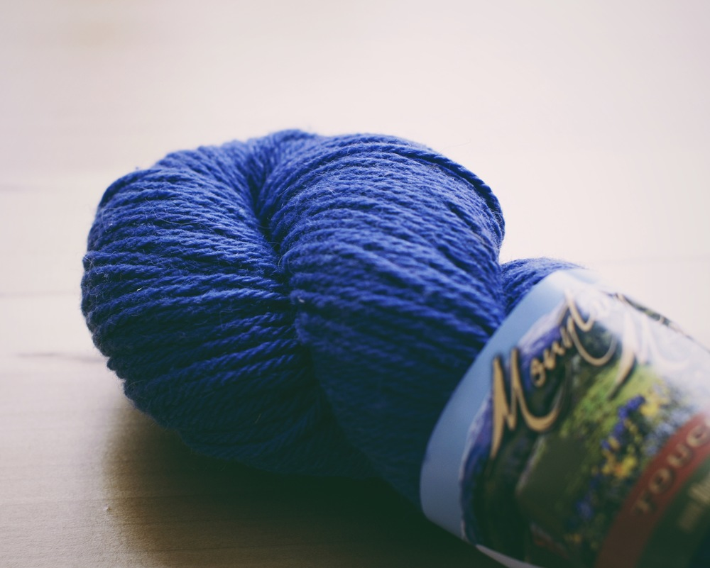 Powell 4-ply worsted in Lupine Colorway