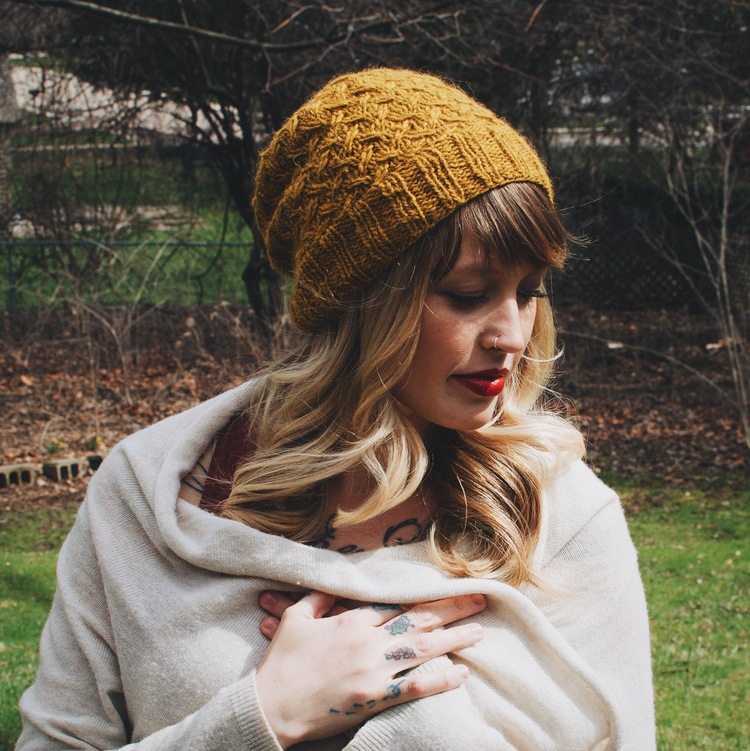 a40ee87513f Pollen Hat knit in O-wool Local in the River Oat Colorway