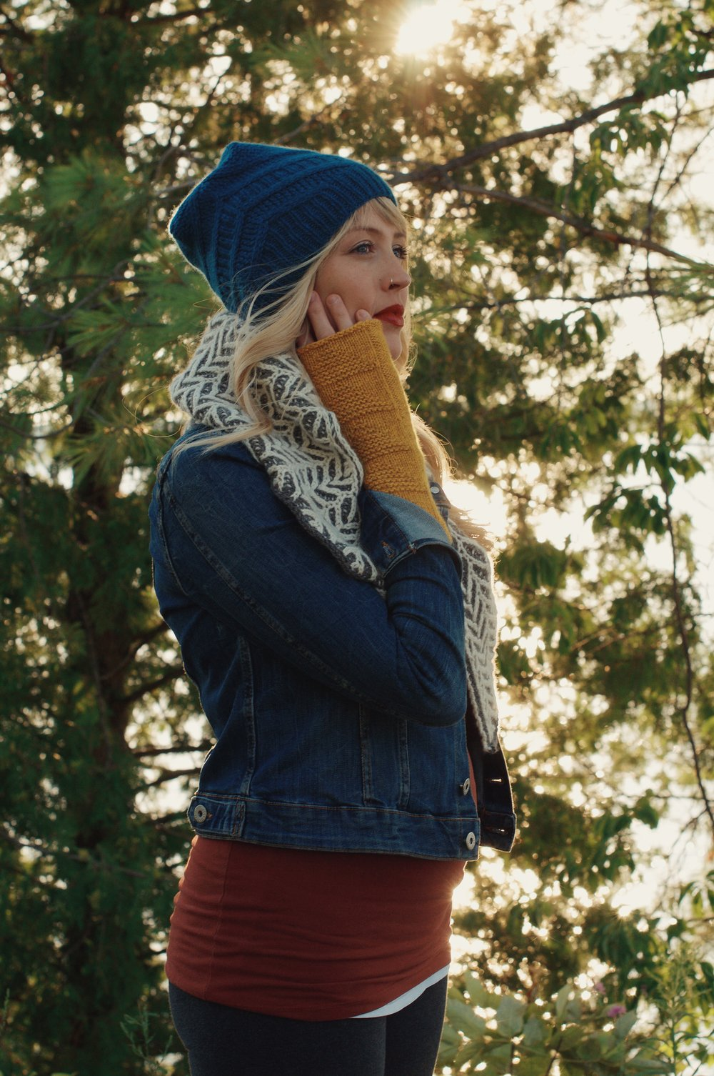 The Wanderlust Collection: Ramble Shawl, Drift Hat, Take Flight MItts