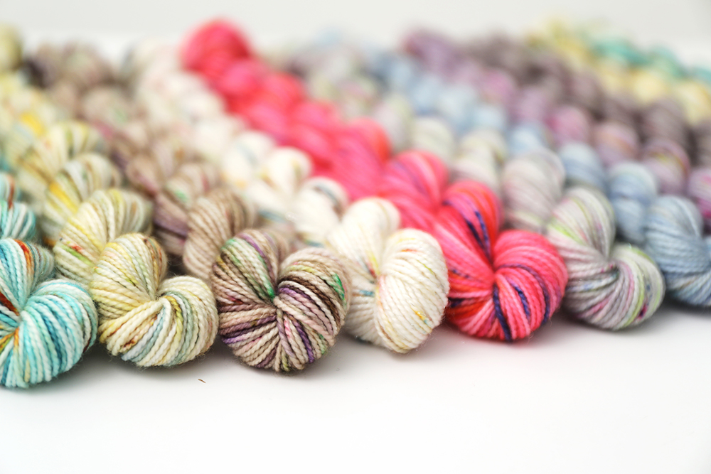 Minis in a variety of colorways