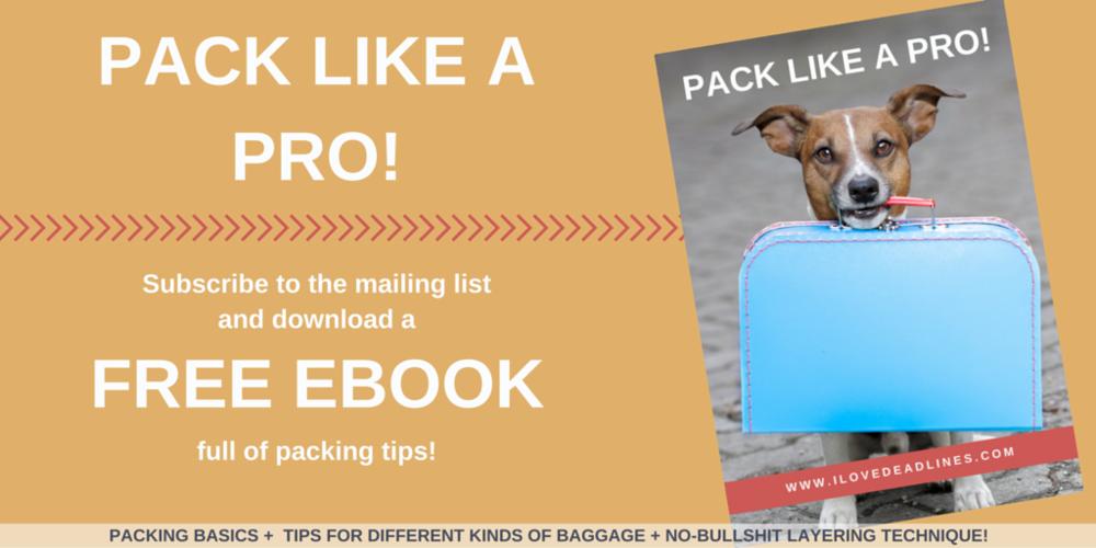 Pack like a pro ? Free Ebook!