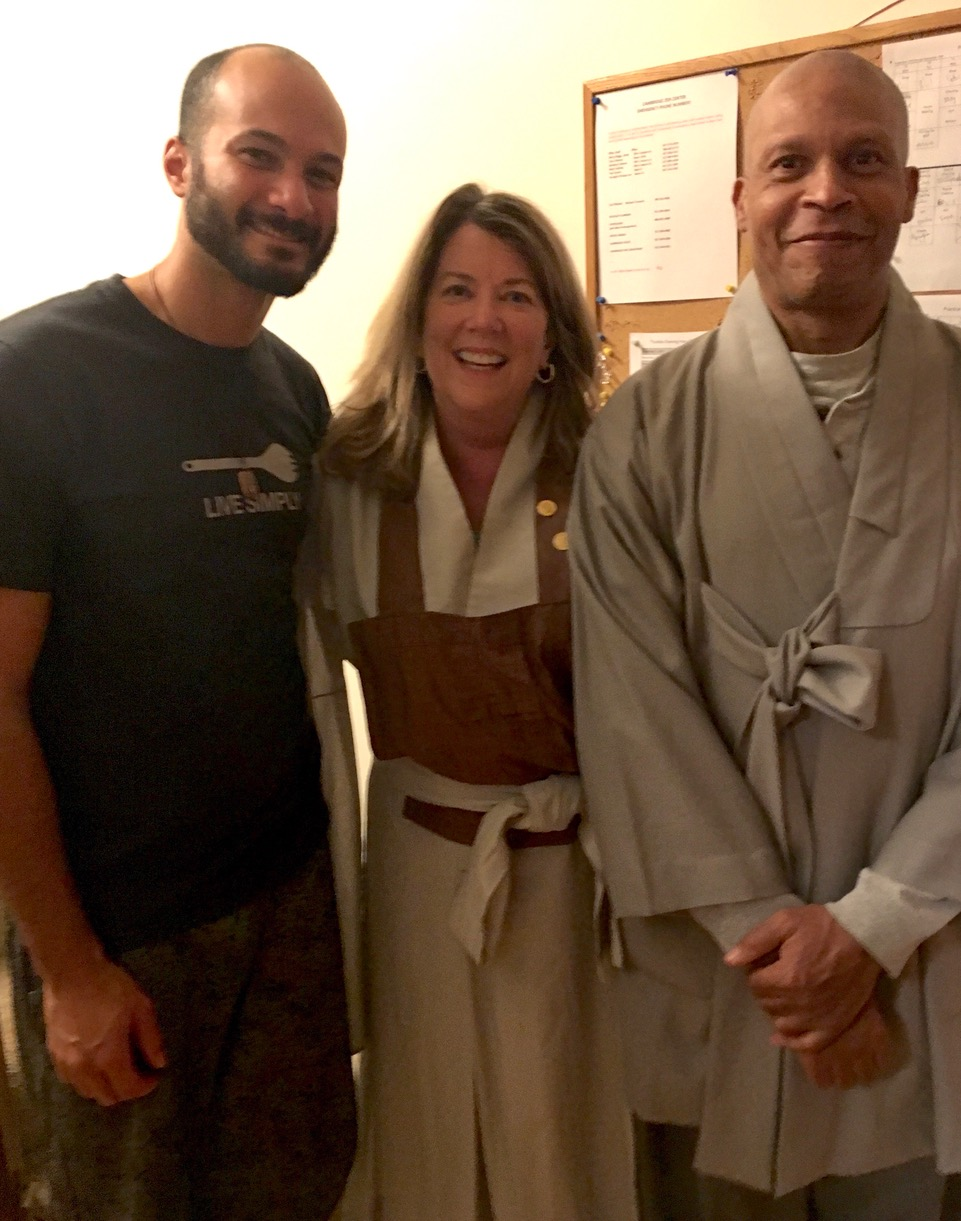 Zen Master Bon Yeon with lovely visitors from our sister temple Providence Zen Center