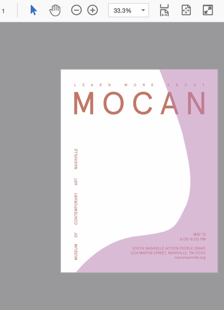 "promo flyers for ""mocan"" community meeting regarding public involvement, breaking ground, and publicity"