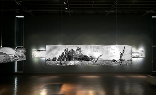 "Mise en espace  .  Exposition au    Musée de la Mer   , du  26 juin au 20 novembre 2016    Project catalog   17  B&W photographs 84 inch x 21 inch (213,3cm x 53,3cm) Made on stainless steel plates.                         Title of photographs  On a marché sur les îles, Terre des îles, Origine, Mouvement en sable majeur, Dichotomie, Genèse,  Les dents de la mer, Inspiration, Connexion, Le nord, Le vent est un artiste, La marche des temps, Par hasard, Zone, Les gardiens, Définitude, Le rendez-vous.   Original   photographs on stainless steel presented at the museum  Limited edition 5 by size.    Art prints   ""giclee print""  Limited edition 5 by print size.    Art book    Special edition personalized at the Museum of the Sea, printed on art paper without acid quality archive. Open edition    Decorative: Acrylic Blocks   Open edition"