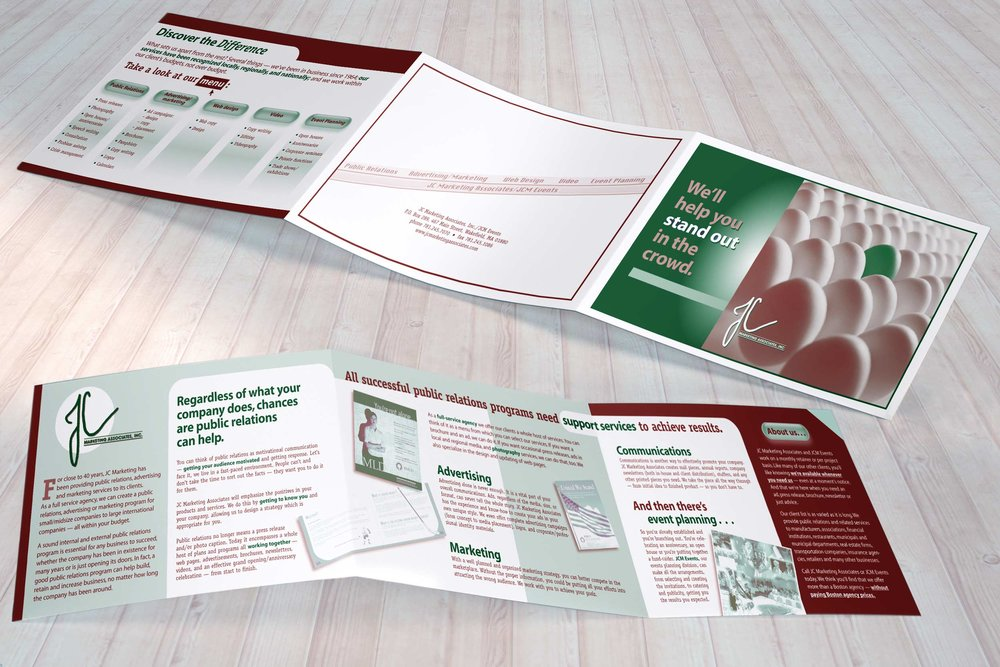 "Sales Brochure, 25.5"" x 5.5"" trifold"