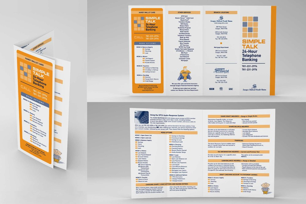 "Informational Brochure, 14"" x 8.5"" double-parallel quadfold"