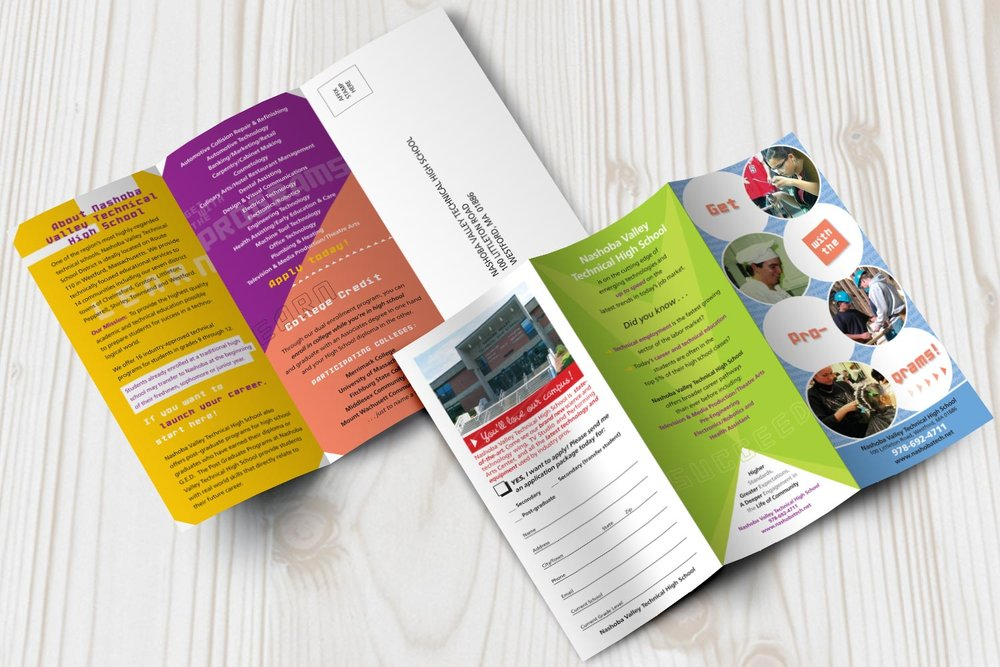 """Promotional Brochure, 11"""" x 8.5"""" trifold"""