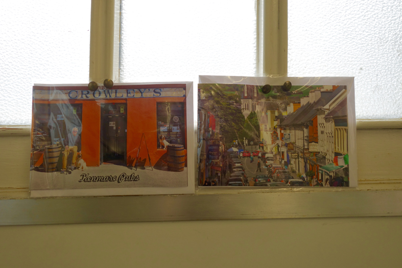 Postcards decorate the cabmens' shelter