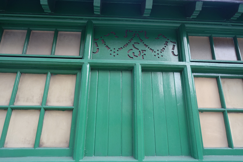 monogrammed panels from the cabmens shelter