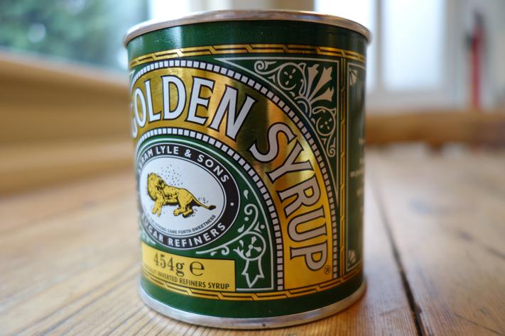 Golden syrup tin