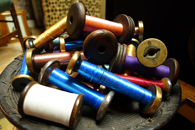 Antiques Silk bobbins for sale at Fisher london antiques shop