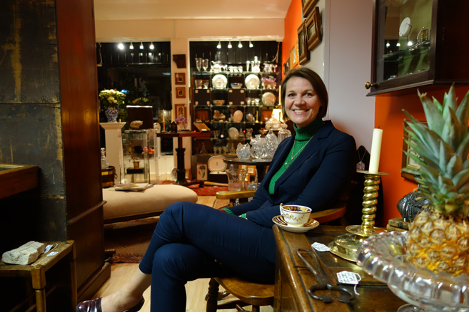 Hilary Fisher proprietress of Fisher London