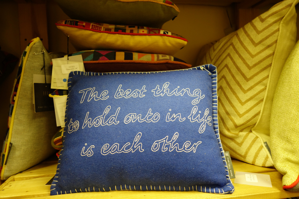 Quote cushion from Fine Cell Work