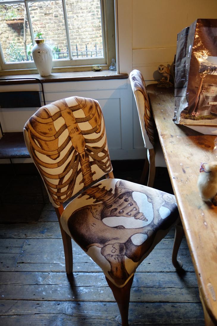 chair in Rupert Hunt's kitchen