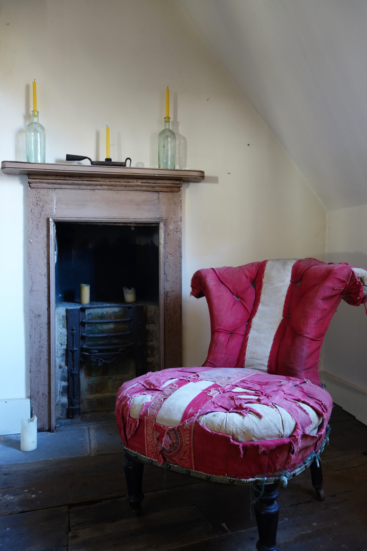 Chair and fireplace in Rupert Hunt's house