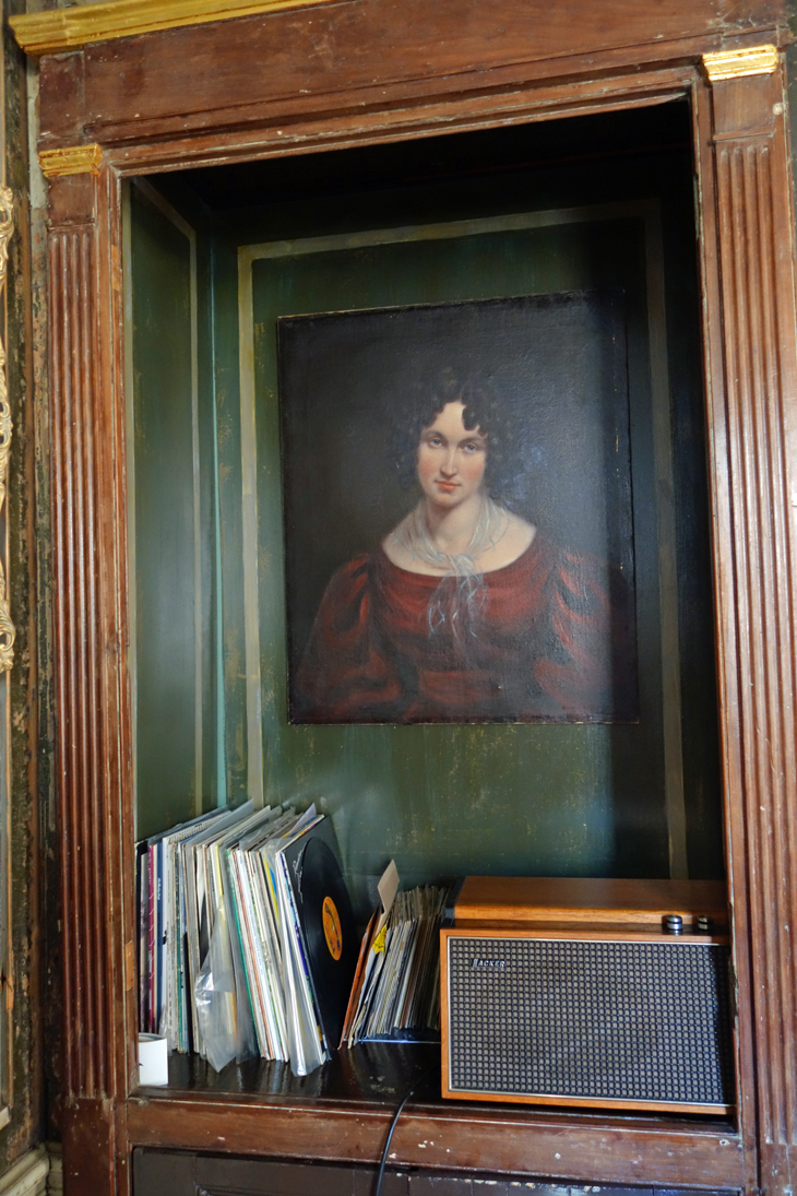 Records and a painting from Rupert Hunt's house in Spitaflields