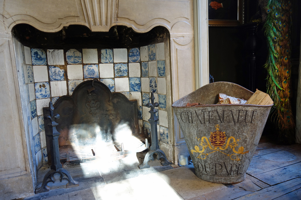 Delft tiles and fireplace in Rupert Hunt's Spitalfields townhouse
