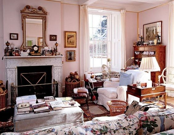Duchess of Devonshire's sitting room at the Old Vicarage
