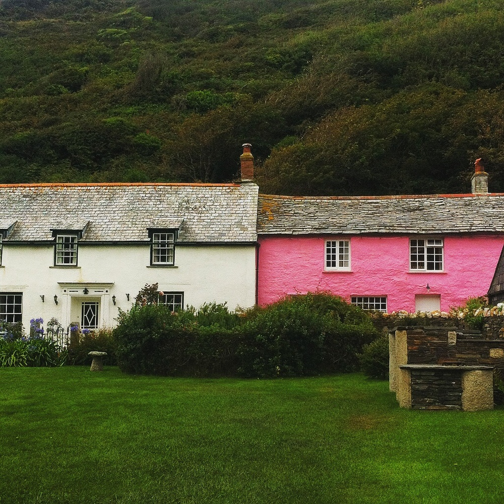 Pink House at Boscastle Cornwall