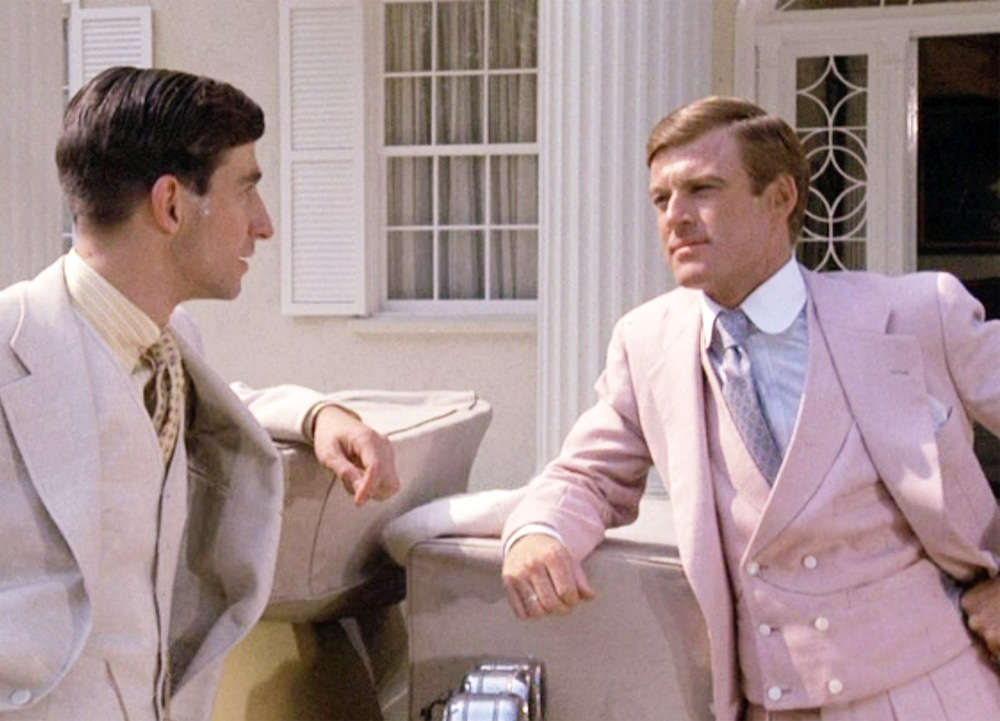 Robert Redford pink suit inThe Great Gastby