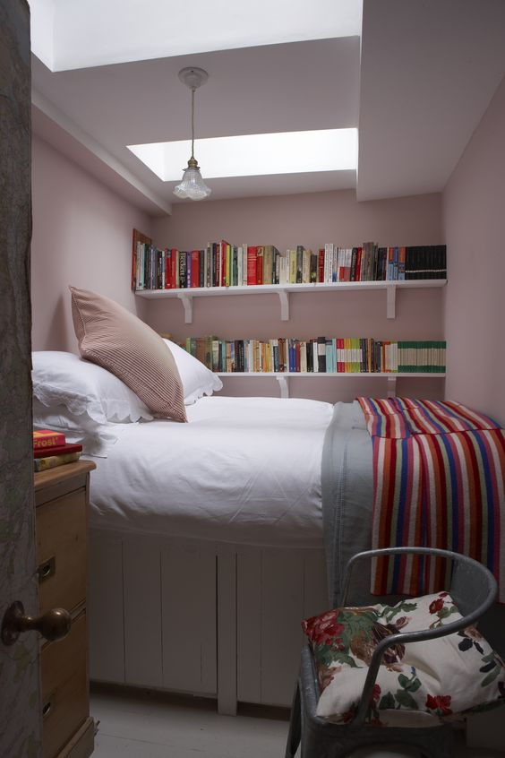 Farrow and Ball pink bedroom