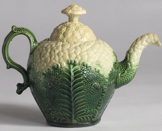 Cauliflower ware teapot