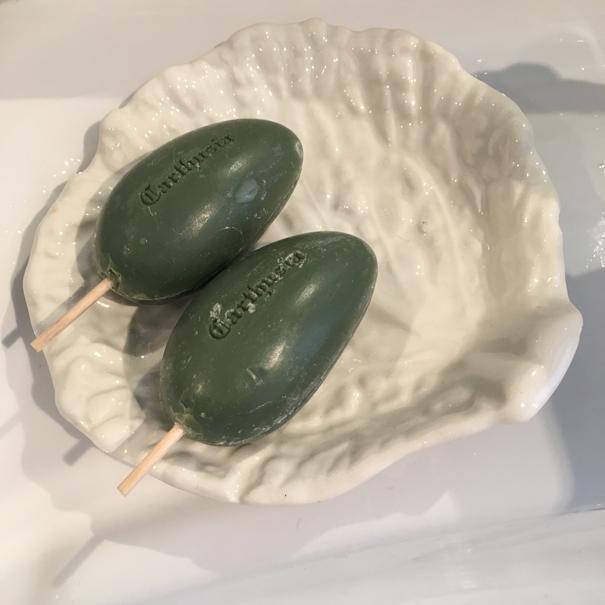 majolica lettuce ware soap dish