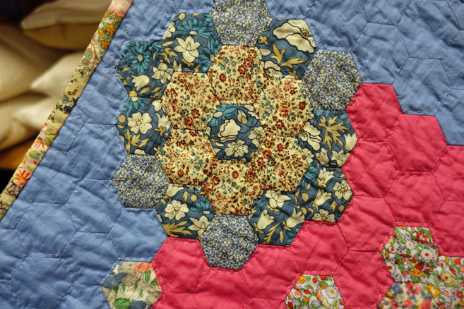 quilt stitched by prisoners from Fine Cell Work
