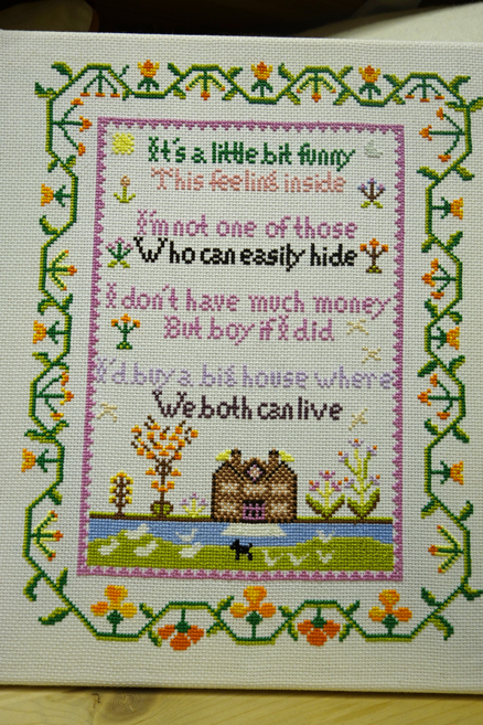 Needlework completed by Fine Cell Work prisoners