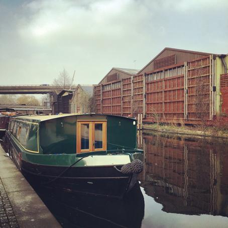 canal boat at Paddington London taken by Isla Simpson
