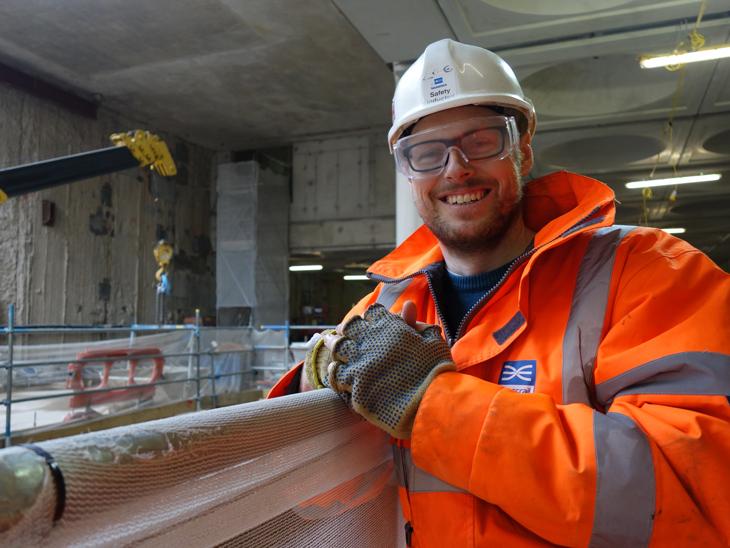 Lee Harman, engineer working on Crossrail Paddington