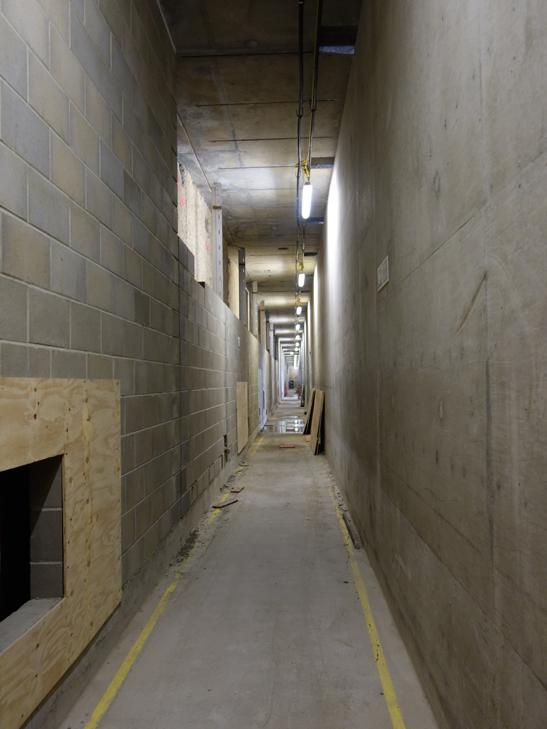 Corridor in Crossrail Paddington site