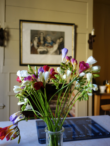 Vase of flowers at Townhouse Spitalfields