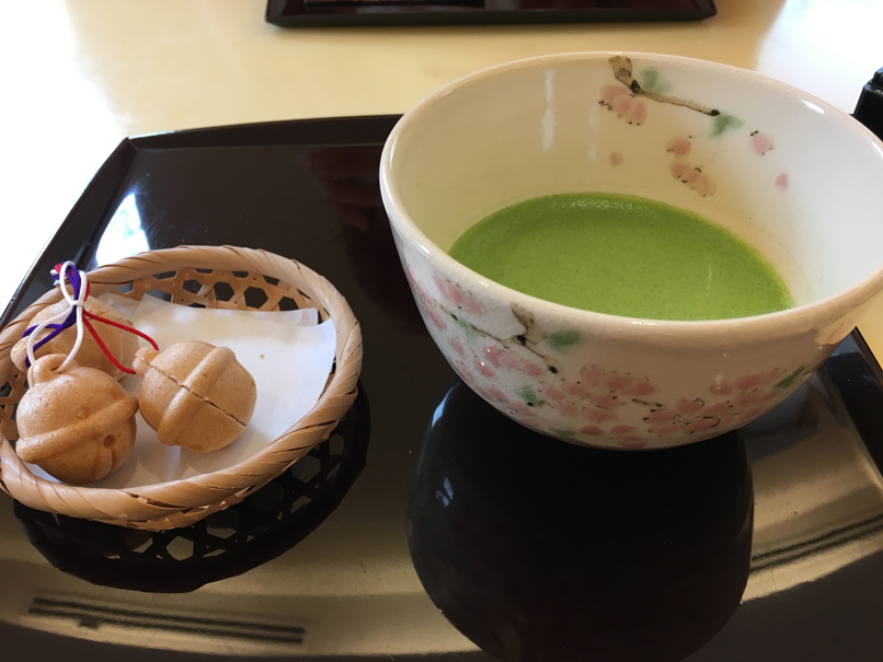 matcha green tea in Japan by Isla Simpson